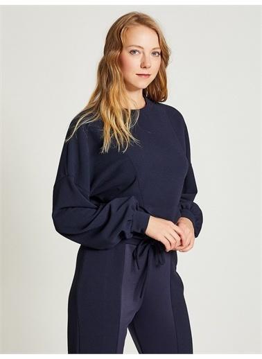 Vekem-Limited Edition Basic Sweatshirt Lacivert